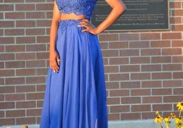 Two-Piece Royal Blue Prom Dress by Mac Duggal