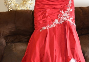 Red Amara Royale Maggie Sottero Wedding Gown