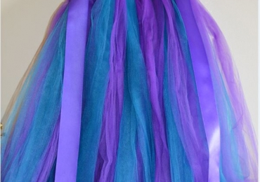 Flower girl Purple and Teal TuTu Dress
